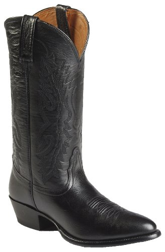 Nocona Men's Imperial Calfskin Cowboy Boot Black 7.5 D(M) US