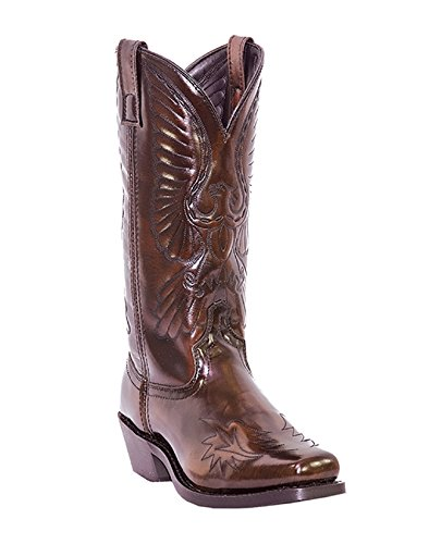 Laredo Men's Eagle Stitch Cowboy Boot Sq Toe Blk Cherry 10 EE US