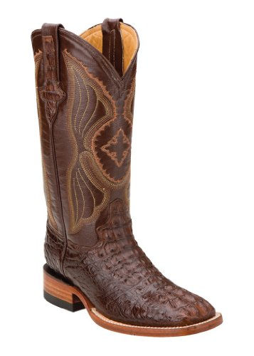 Ferrini Ladies Hornback Caiman Croc Sq Toe 6.5 Rst