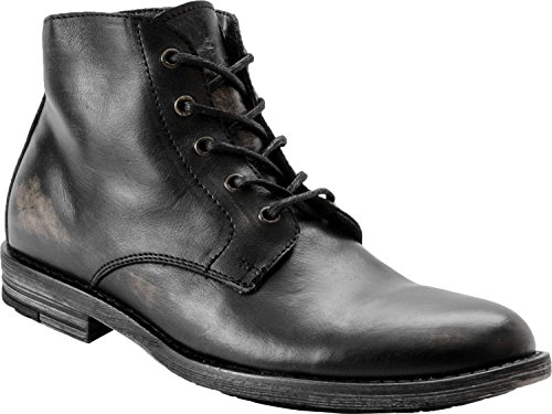 Bed Stu Men's Hoover Chukka Boot, Black Handwash, 12 M US