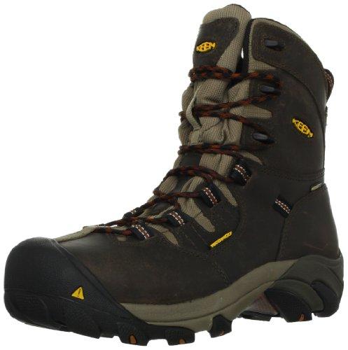 KEEN Utility Men's Detroit 8 Steel Toe Work Boot,Black Olive/Brindle,9 D US
