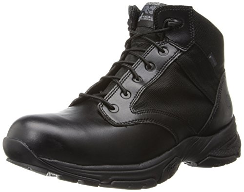 Timberland PRO Men's 5 Inch Valor Soft Toe Waterproof Duty Boot,Black Smooth With Textile,8 W US
