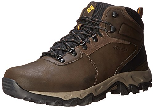 Columbia Men's Newton Ridge Plus II Wide Hiking Boot, Cordovan/Squash, 15 W US