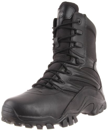 Bates Men's Delta Side Zip 8 Inch Uniform Boot, Black, 10.5 M US