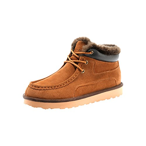 Rock Me Men's Genuine Leather Winter Snow Boot (6.5 D(M) US, chestnut)