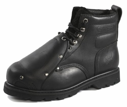 Rhino Men's 6MS01 6″ Steel Toe Metatarsal Leather Work Boot,10.5 D(M) US,Black