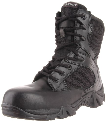 Bates Men's 8 Inch GTX Ultra Lites Comp Uniform Work Boot, Black, 12 M US