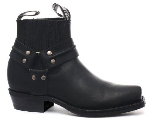 Grinders Renegade Lo Black Mens Cowboy Boots US Size 12
