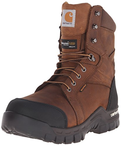 Carhartt Men's Ruggedflex Safety Toe Work Boot, Brown, 12 M US