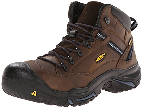 KEEN Utility Men's Braddock Mid AL WP M Work Boot, Bison/Ensign Blue, 12 2E US