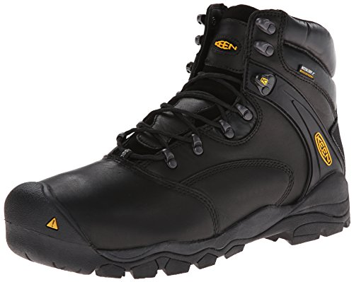 KEEN Utility Men's Louisville 6 Inch Boot,Black,10.5 D US