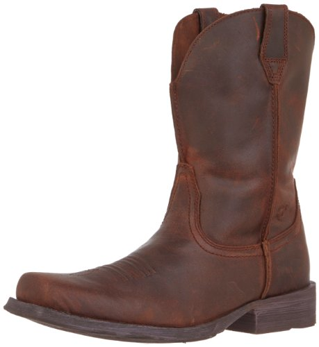Ariat Men's Rambler Wide Square Toe Western Boot, Moccasin, 8 W US