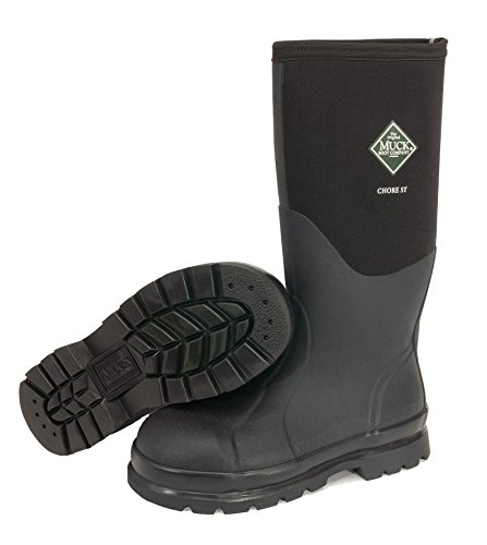 The Original MuckBoots Men's Chore Hi Steel Toe Work Boot, Black, M11