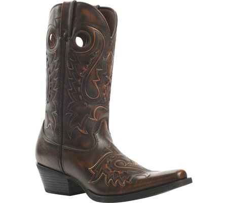 Durango Men's Gambler Jack Western Boot Square Toe Dark Brn US