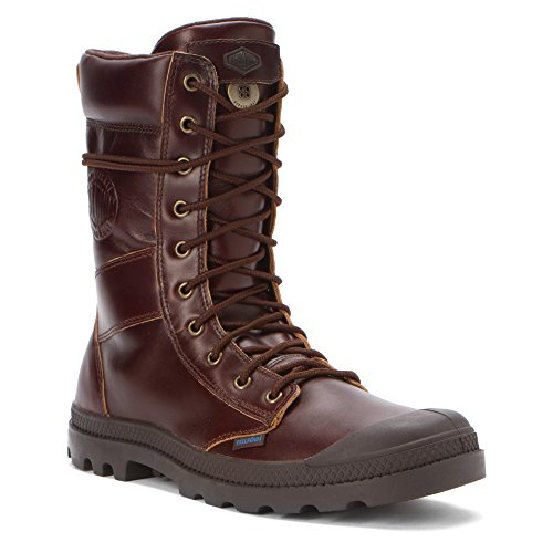 Palladium Men's Tactical Leather WP Snow Boot,Mahogany,13 M US