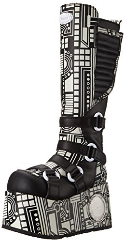 Pleaser Men's Techno-856UV-B Boot,Black Polyurethane,11 M US