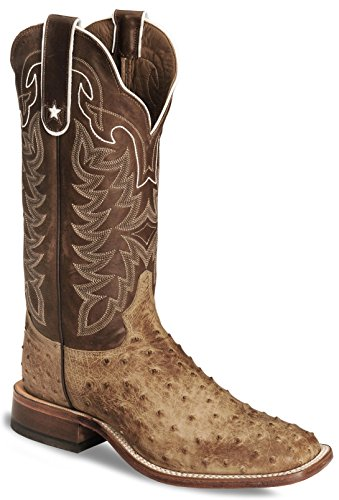 Tony Lama Men's Full Quill Ostrich Boot Square Toe Antique Tn US