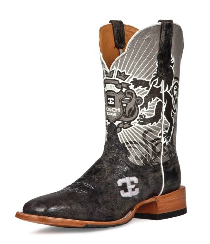 Cinch Men's Edge Honorable Cowboy Boot- Square Toe Black US