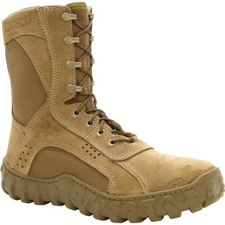 Rocky Men's S2V Military Duty Boots,Green,3.5 W