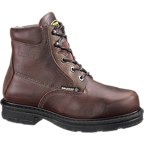 Wolverine Men's Fusion Max Steel Toe 6″ Work Boot Chocolate 09.5 / D