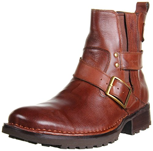 RJ Colt Men's Maxwell Double Gore Strap And Buckle Pull On Boot,Bridal Brown,10.5 M US
