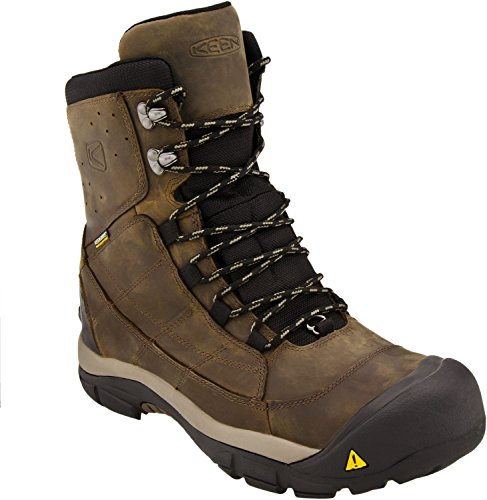 KEEN Men's Summit County III Snow Boot, Cascade Brown/Brindle, 10.5 M US