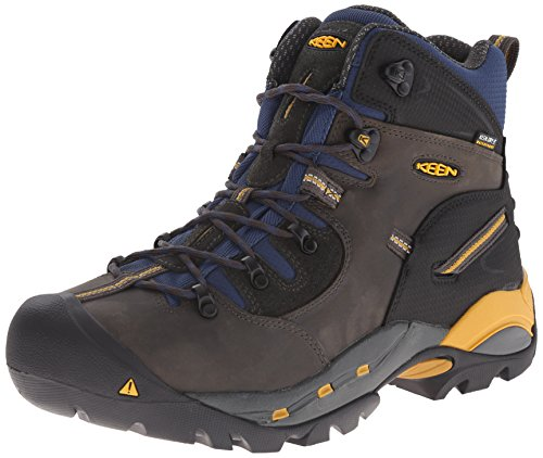 KEEN Utility Men's Pittsburgh Engineer Boot, Raven/Yellow, 10 D US