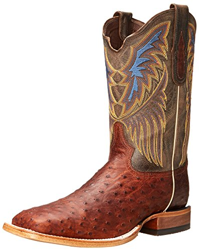 Tony Lama Men's 6079-FQ Ostrich Western Boot,Sienna,9 D US
