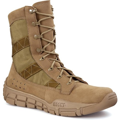Rocky Men's C4t Trainer Military Boot Round Toe Brown US