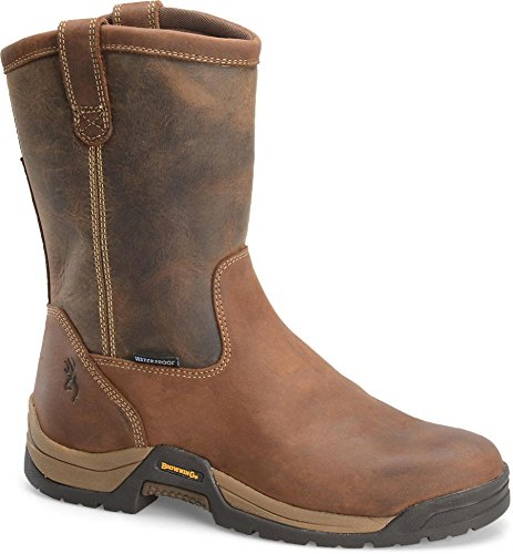 Men's Browning BR9105 Waterproof Ranch Wellington Boots, TAN/BROWN, 11.5M(D)