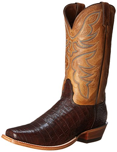 Nocona Boots Men's Caiman L Toe Western Boot,Chocolate,10.5 EE US