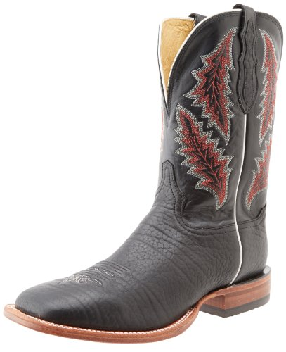 Tony Lama Boots Men's Black Bullhide Western Boot,Black,9 D US