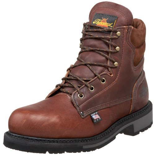 Thorogood American Heritage 6″ Safety Toe Boot, Walnut, 17 D US