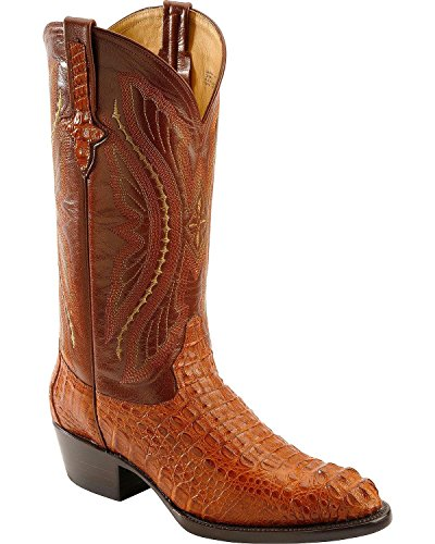 Ferrini Men's Caiman Body Crocodile Cowboy Boot Medium Toe Cognac US