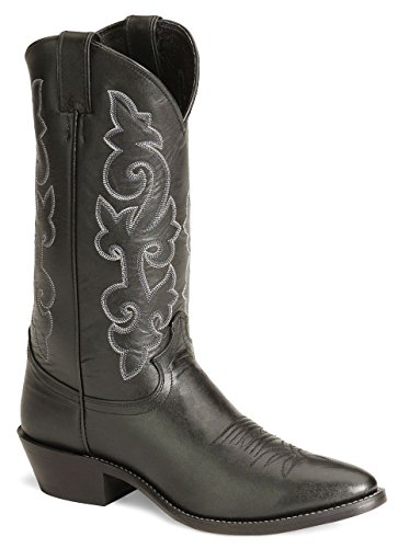 Justin Boots Men's 13″ Western Boot Medium Round Toe,Black London Calf,12 D US
