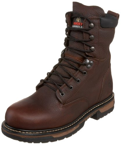 Rocky Men's Iron Clad 8″ Waterproof Non-Steel Boot,Bridle,8.5 M US