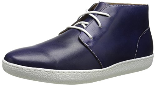 Cole Haan Men's Glenn Cupsole Chukka Boot,Washed Indigo/White,8.5 M US