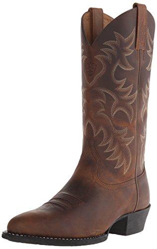 Ariat Men's Heritage Western R Toe Western Boot,  Distressed Brown,  9 D US