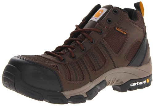 Carhartt Men's CMH4370 Composite Toe Hikier Boot,Apache Brown Leather/Brown Nylon,10.5 W US