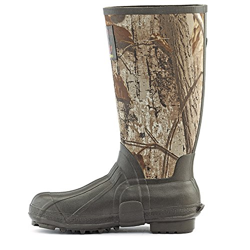Guide Gear Men's 15 inch Rubber Boots 800 Gram Thinsulate Ultra Realtree AP Camo, REALTREE AP/BROWN, 9M