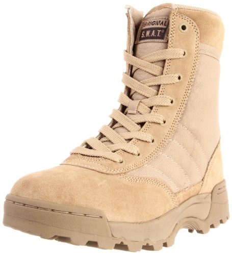 Original S.W.A.T. Men's Classic 9 Inch Side-zip Tactical Boot, Tan, 10 D US