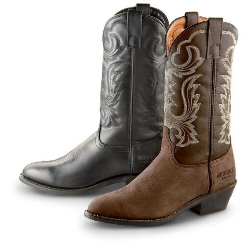 Guide Gear Men's 12 Inch Cowboy Boots, BLACK, 11M