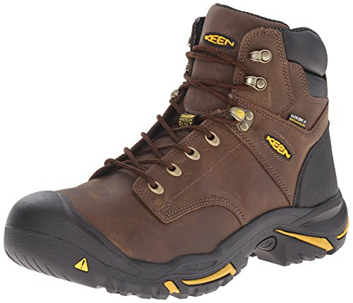 KEEN Utility Men's Mt. Vernon Mid Work Boot, Cascade Brown, 12 D US