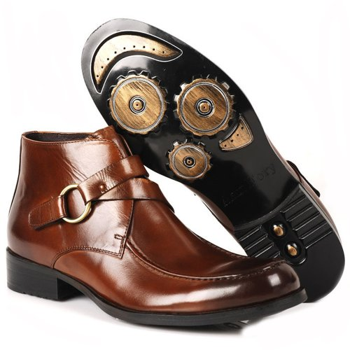 Fulinken Men's Two-tone Leather Formal Dress Shoes Oxford Boots Classic Mens Shoes