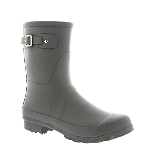 Mens Original Short Plain Rubber Fishing Ankle High Wellington Boots – 12 – GRE45 BL0187