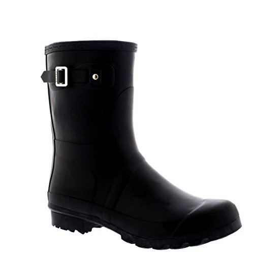 Mens Original Short Plain Rubber Fishing Ankle High Wellington Boots