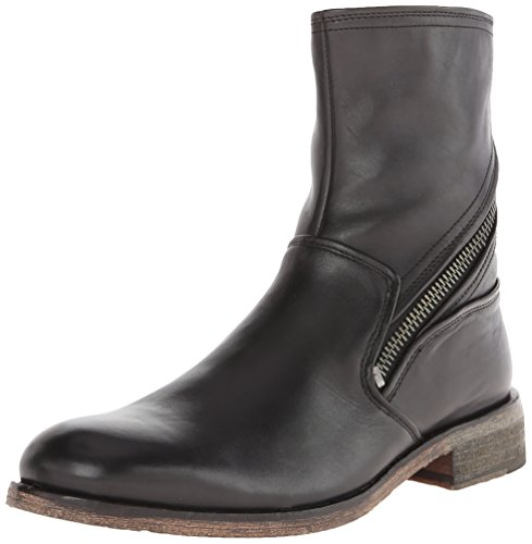 John Varvatos Men's Rocker Zip Motorcycle Boot, Black, 11.5 M US