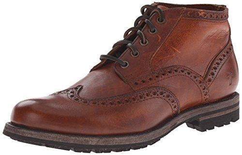 FRYE Men's Phillip Wingtip Chukka Boot, Cognac Soft Vintage Leather, 10 M US