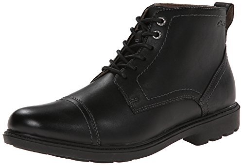Clarks Men's Sumner Heath Boot,Black Leather,13 M US