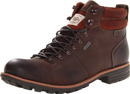 Clarks Men's Midford ALP Boot,Brown Leather,8 M US